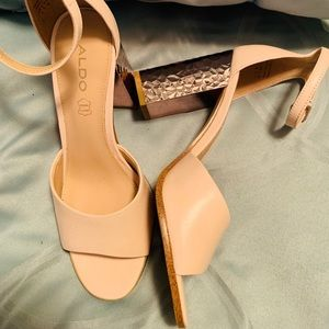 Aldo Rose pink-nude heels